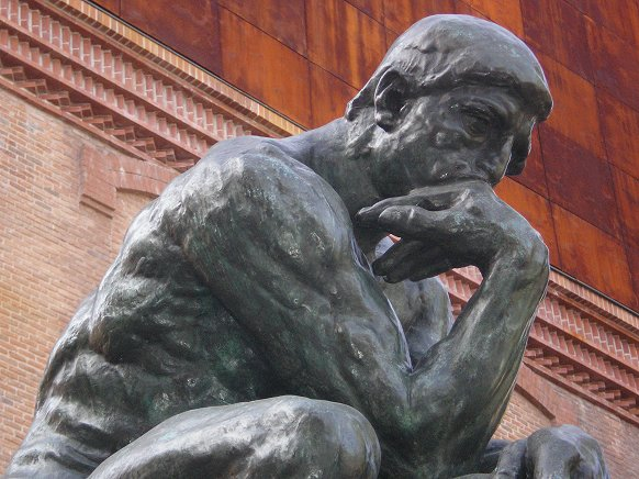"""The Thinker"" sculpture by Auguste Rodin"