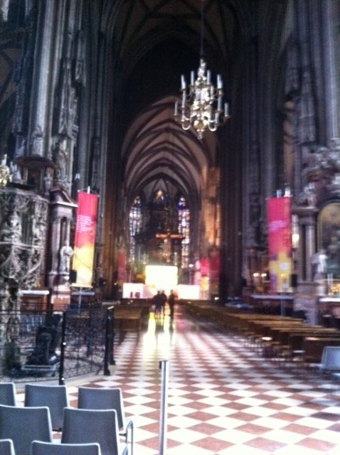 Inside St Stephens Cathedral.
