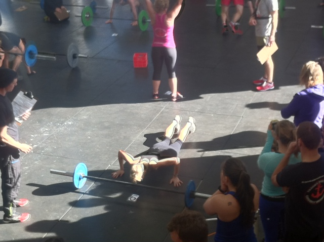 Me, competing at my very first CrossFit competition.